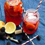 Blackberry apricot sangria